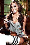 Titsy queen Tiana Nicole looks marvelous in her wild nylons