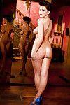 Delightful model with little knockers Nikki Mitchell erotic dance off her clad
