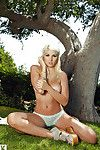 Pretty fairy Tashia Lafon uncovering her spectacular bends over outdoor