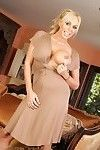 Gorgeous fairy pornstar, Mary Carey, is all dolled up in her appealing dress. This babe likes the trouble-free access it gives her to pop out her enormous mangos and show off her smooth pussy.
