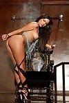 Latin beauty centerfold beauty Jessica Burciaga showcasing her seductive bows