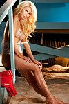 Hawt fairy-haired with feel like legs Tiffany Toth showing off her small distorts