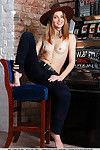 Milagres makes a really sizzling savor as this babe disrobes her jeans with her cowboy hat furthermore the slot machine.