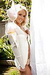 Seductive fairy coed Brandi Lynn posing purely dressed outdoor