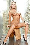 Foxy fairy-haired pretty Jurgita Valts exposing her ideal scones and smooth on top snatch