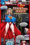 Super girl with super tits in super comics!
