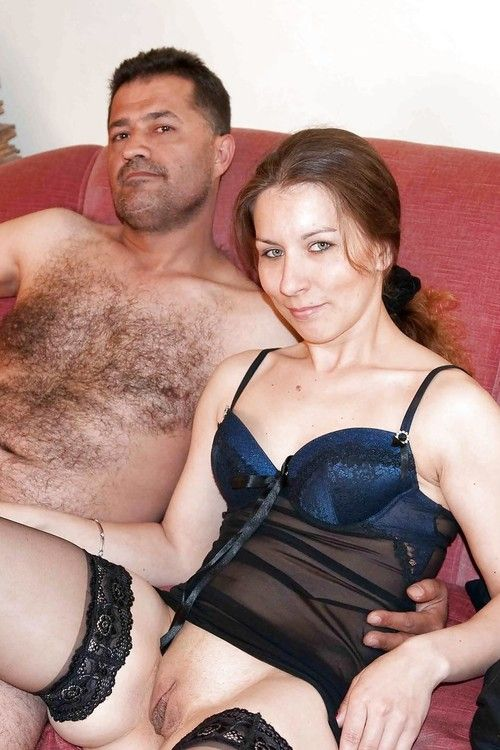 Hot legged European amateur Jana Puff in heels and lingerie licking cum