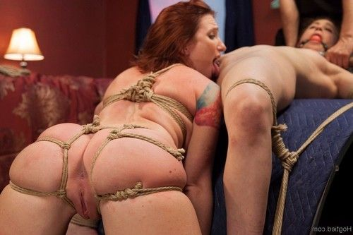 Two little cunts find themselves tied together and begging for orgasms