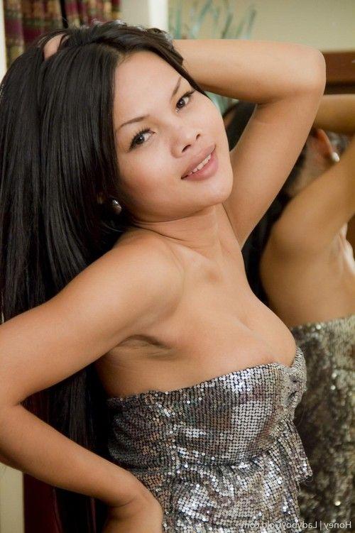 Asian ladyboy anal toying