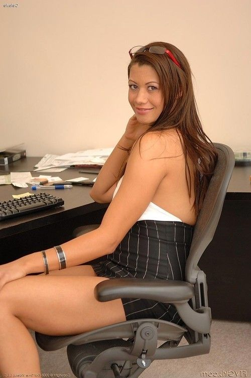 Busty office milf with hot tits