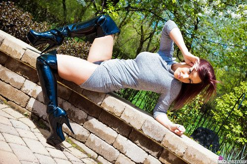 Nikki dress and thigh highs