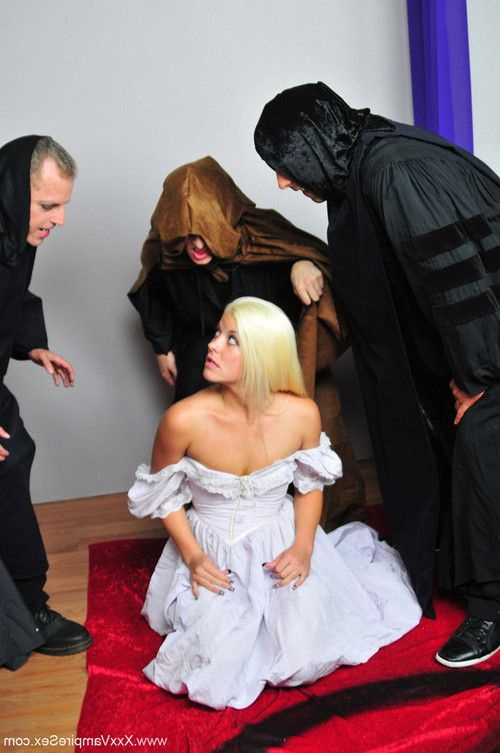 Group of sex vampires capture teen babe shay golden and bite her