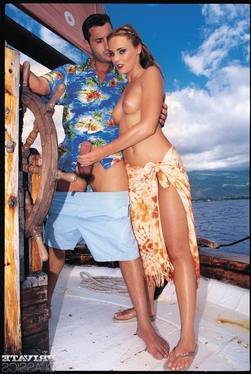 Hardcore threesome with tro classic pornstras on boat