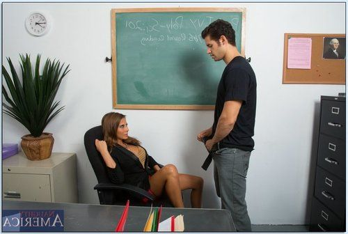 Slutty teacher Madison Ivy gives head and gets shagged hardcore