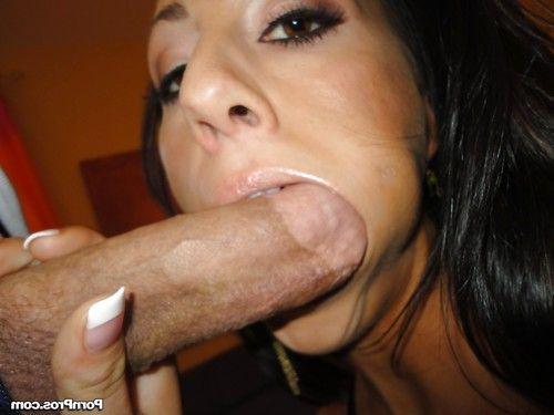 Big ass slut Tiffany Brookes ball licking & eating cum in big cock deepthroat