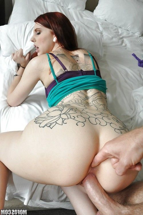 Tattooed redhead hottie Ginger maxx gets her love holes drilled hardcore