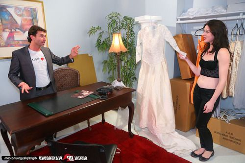 Promiscuous hottie gets fucked tough at her wedding dress fit check