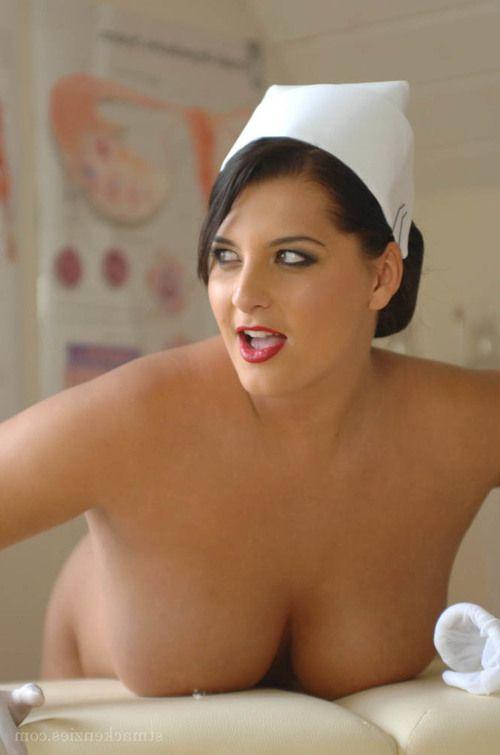 BBW nurse Miss Hayley strips off white pantyhose and uniform