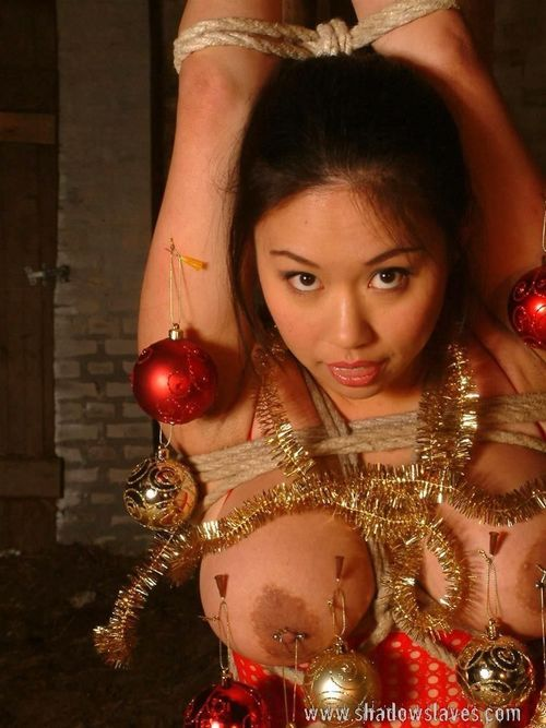 Japanese princess attached and decorated for the festive season