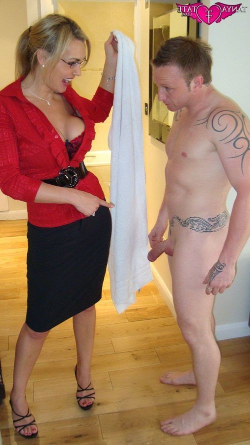 Tanya Tate Glasses Pony Tail With Peter Oh Tool In Wrong Apartment
