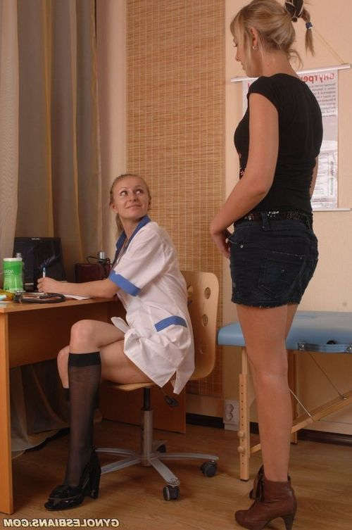 Exposed and tempted medical exam lesbo