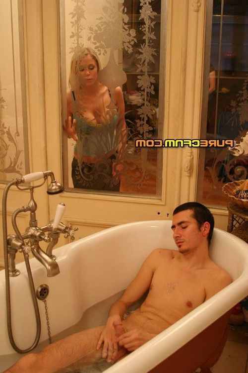 MILF and youthful spy on gentleman in baths ahead of having a flavor of his snake