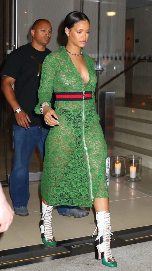 Rihanna distinguish throughout to pointer sisters and underwear outdoor