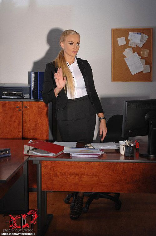 Busty blonde office worker Kayla Green taking hardcore anal in BDSM scene