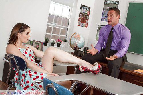 Barely legal schoolgirl Jenna J Ross pulls down her panties for teacher