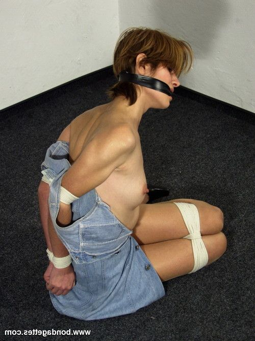 Amateur subbie lecea is gagged and hogtied by her mistress in a