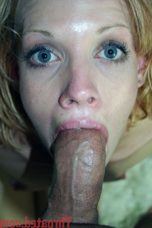 Cock craving blonde gives wet nasty deep throating