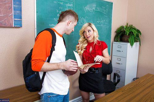 Blonde teacher Laura Bentley is getting drilled hard in her snatch
