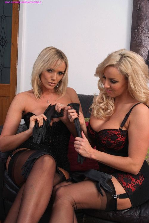 Leather glove loving lesbians lucy zara and dannii harwood are a