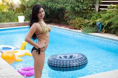 Busty aubrey paige in bikini