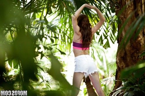 Teen babe Anya Olsen caught masturbating outdoors by hidden voyeur