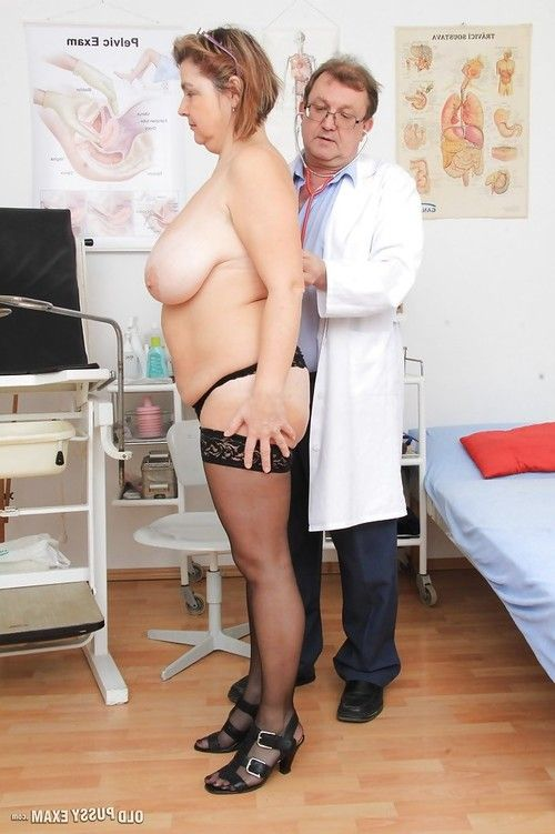 Chunky older lady Drahuse submitting to kinky doctor