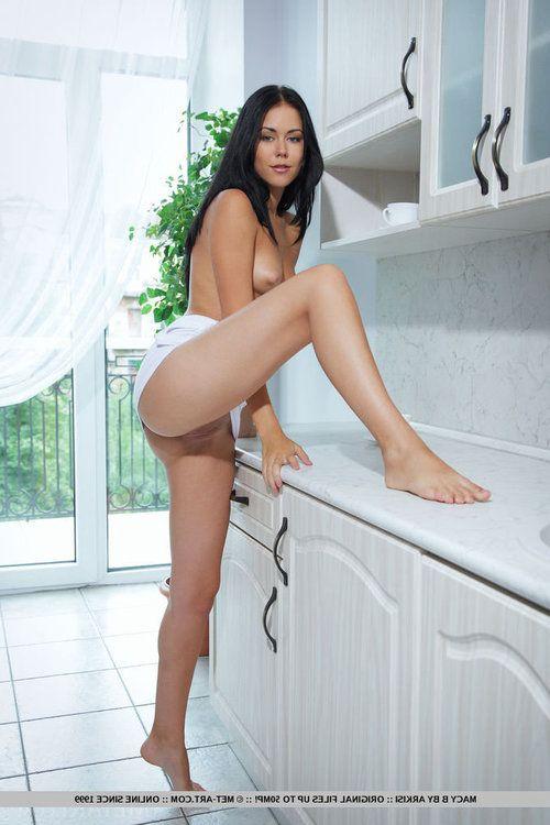 Lustful young vixen Macy B enjoys spreading her orgasmic pussy