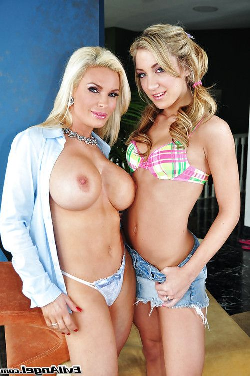 Filthy lesbian Amy Brooke is into strapon action with her friend