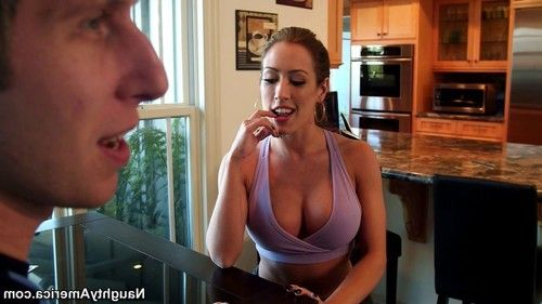 Busty capri cavanni gets horny while working out