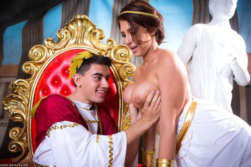 Ayda swinger gets boned by the emperor on his majestic throne