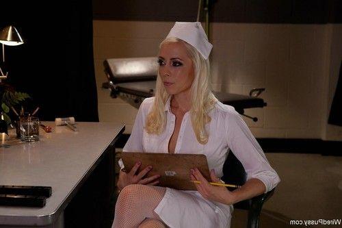 Head nurse coerces a new hire into hot lesbian sex with bondage