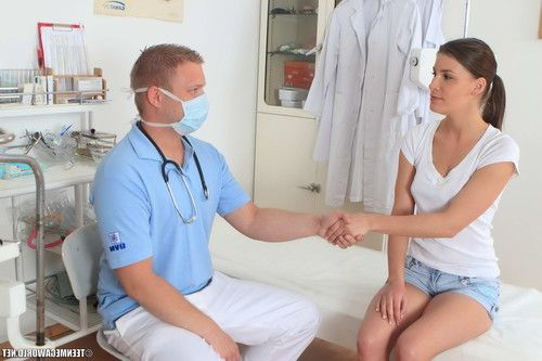 tall gorgeous teen girl fucked during a medical checkup