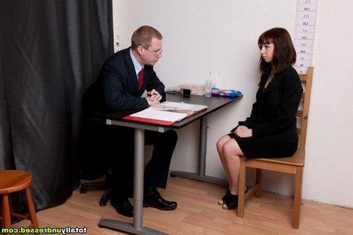 Office interview upskirt