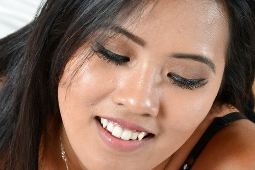 Sensual amateur Asian chick Angelina Chung in a hot foot fetish scene