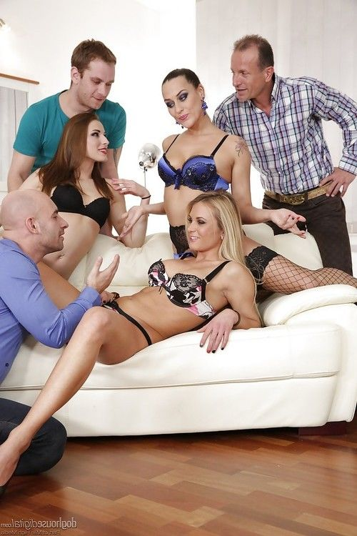 Crazy groupsex fucking with Mea Melone, Victoria Daniels and Laura Crystal