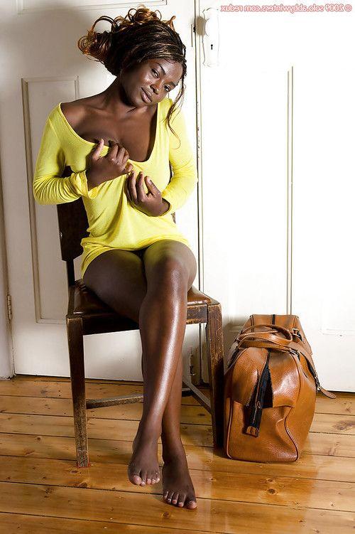 Ebony amateur Marika strips naked and flaunts large black breasts