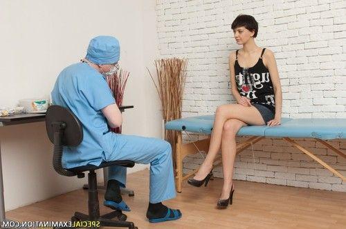 Brunette hardly bearing the medical fetish procedures