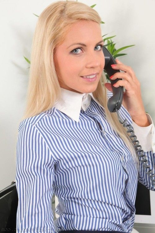 Super hot office blonde with a thick ass