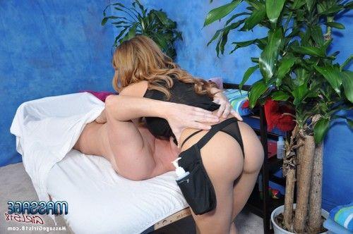 Busty slut Alexa enjoys hardcore sex after giving an erotic massage