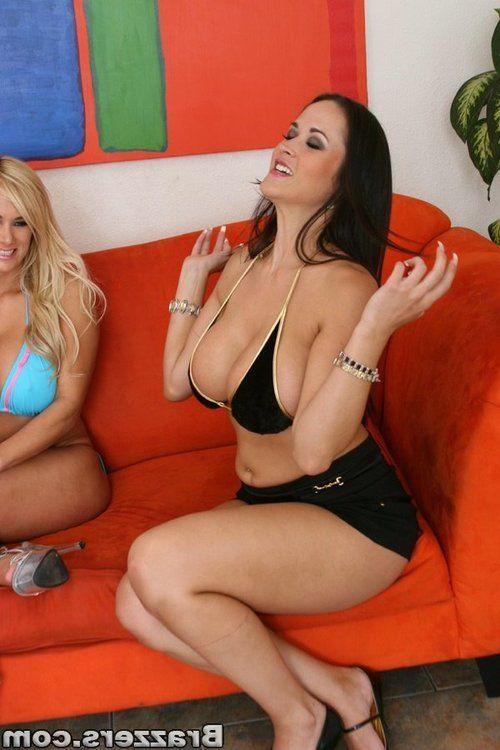 Three fiery MILF pornstars stripping off bikinis and posing naked